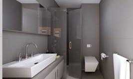 3d render of bathroom. 3d render of modern bathroom Royalty Free Stock Photos