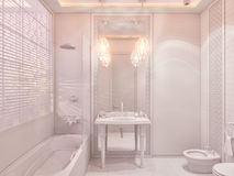 3d render bathroom Islamic style interior design Stock Photography