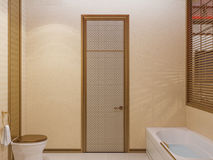 3d render bathroom Islamic style interior design Royalty Free Stock Image