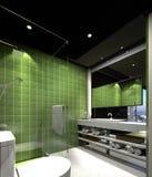 3D Render of bathroom. 3D Render of modern bathroom Stock Photo