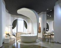 3d render of bathroom. 3d render of modern bathroom with jacuzzii hub Royalty Free Stock Photo