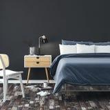 3d render of beautiful bedroom close-up. 3d render of beautiful modern bedroom close-up stock illustration