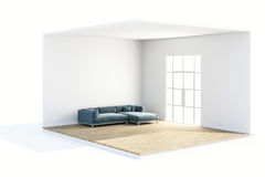 3d render of beautiful clean room. Design concept Royalty Free Stock Photography