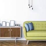 3d render of beautiful elegant interior Stock Image