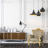 3d render of beautiful elegant interior Royalty Free Stock Image