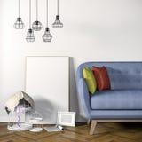 3d render of beautiful elegant interior Stock Photo