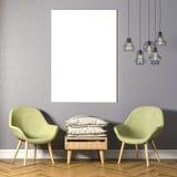 3d render of beautiful elegant interior Royalty Free Stock Images