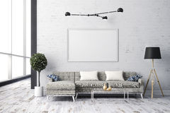 3d render of beautiful  interior living design Royalty Free Stock Photography