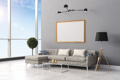 3d render of beautiful  interior living design Royalty Free Stock Photos