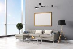 3d render of beautiful  interior room setup Stock Image
