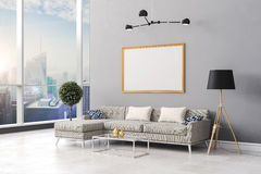 3d render of beautiful  interior room setup Royalty Free Stock Photo