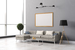 3d render of beautiful  interior room setup Stock Photography