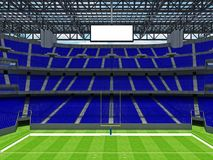 Modern American football Stadium with blue seats Stock Image