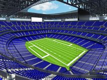 Modern American football Stadium with blue seats Stock Images