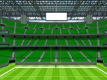 Modern American football Stadium with geen seats Royalty Free Stock Photo
