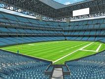 Modern American football Stadium with sky blue seats Royalty Free Stock Photo
