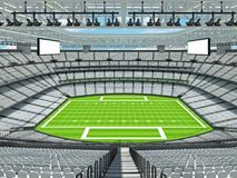 Modern American football Stadium with white seats Royalty Free Stock Images