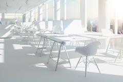 3d render of beautiful modern office interior. Setup royalty free illustration
