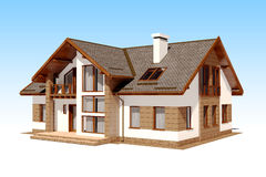 3d render of beautiful residential house Royalty Free Stock Images
