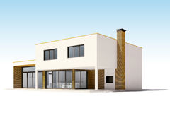 3d render of beautiful residential house Stock Image