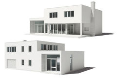 3d render of beautiful residential house Royalty Free Stock Photography
