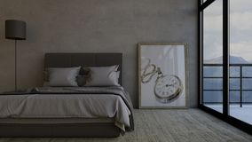 Bedroom. 3D render of a Bedroom Royalty Free Stock Images