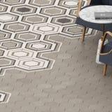 3d render of beige floor tile with pattern Stock Image