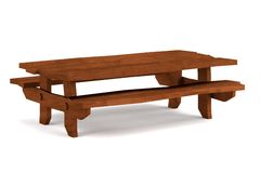 3d render of bench. Realistic 3d render of bench Royalty Free Stock Images