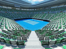 3D render of beutiful modern tennis grand slam lookalike stadium. For fifteen thousand fans Royalty Free Stock Photography