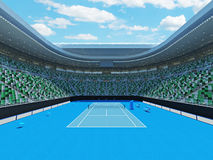 3D render of beutiful modern tennis grand slam lookalike stadium. For fifteen thousand fans Royalty Free Stock Image