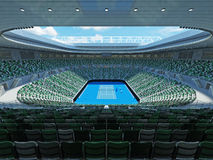 3D render of beutiful modern tennis grand slam lookalike stadium. For fifteen thousand fans Stock Images