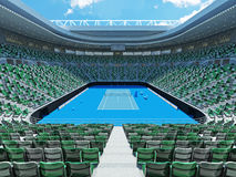 3D render of beutiful modern tennis grand slam lookalike stadium. For fifteen thousand fans Stock Image