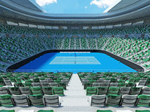 3D render of beutiful modern tennis grand slam lookalike stadium Stock Photos