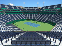 3D render of beutiful modern tennis masters lookalike stadium. For fifteen thousand fans stock illustration