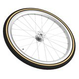 3d render of bicycle wheel. Realistic 3d render of bicycle wheel Royalty Free Stock Photography