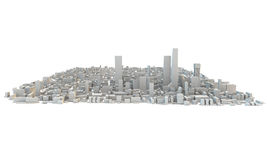 3d render of a big sprawling cityscape Royalty Free Stock Photos