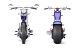 3D render biker motorcycle on a white background. 5k Royalty Free Stock Images