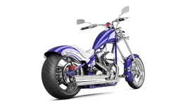 3D render biker motorcycle on a white background. 5k Stock Images