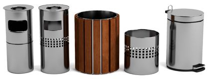 3d render of bins Royalty Free Stock Photography