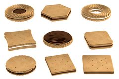 3d render of biscuits Stock Photography
