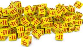 Black friday cubes Royalty Free Stock Photo