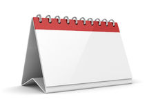 3d Render of Blank Calendar. This is a 3d Rendered Computer Generated Image.  on White Stock Photography