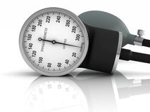Blood pressure measuring device Royalty Free Stock Photos