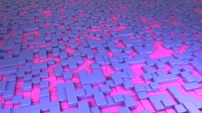3d render blue and pink cubic background royalty free illustration