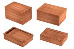 3d render of boxes Stock Images