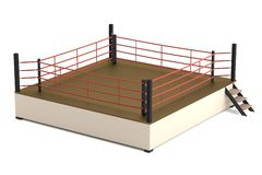 3d render of boxing ring. Realistic 3d render of boxing ring Royalty Free Stock Photos