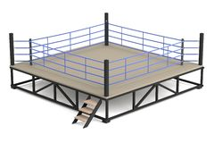 3d render of boxing ring. Realistic 3d render of boxing ring Stock Photo