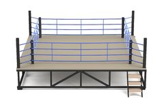 3d render of boxing ring. Realistic 3d render of boxing ring Stock Photos