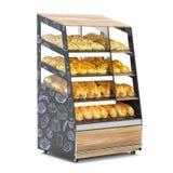 Bread shelves vector illustration