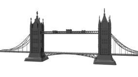 3d render bridge architecture on white background stock footage
